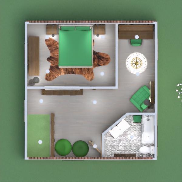 floorplans casa quarto cozinha escritório iluminação 3d