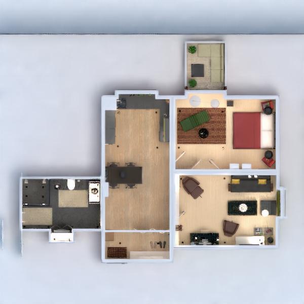 floorplans appartamento decorazioni angolo fai-da-te bagno camera da letto saggiorno cucina 3d