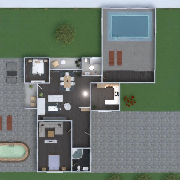progetti casa esterno sala pranzo architettura 3d
