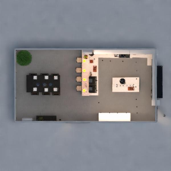 floorplans dom meble wystrój wnętrz kuchnia oświetlenie 3d