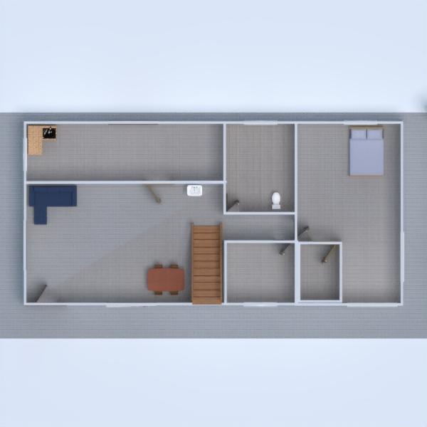 планировки дом ванная гостиная кухня 3d