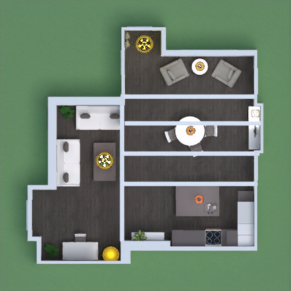 floorplans apartment living room kitchen lighting dining room 3d
