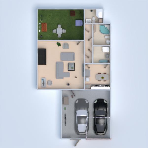 floorplans casa decoración salón cocina exterior 3d