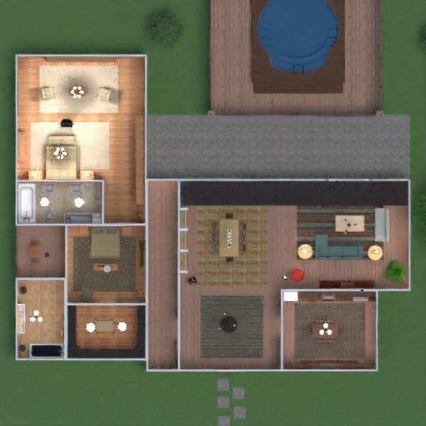floorplans dom meble wystrój wnętrz zrób to sam łazienka sypialnia pokój dzienny kuchnia na zewnątrz 3d