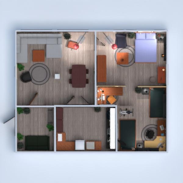 floorplans apartamento casa cuarto de baño cocina exterior 3d