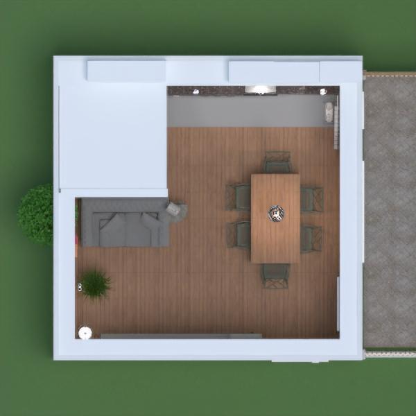 floorplans appartamento arredamento decorazioni cucina illuminazione ripostiglio monolocale 3d