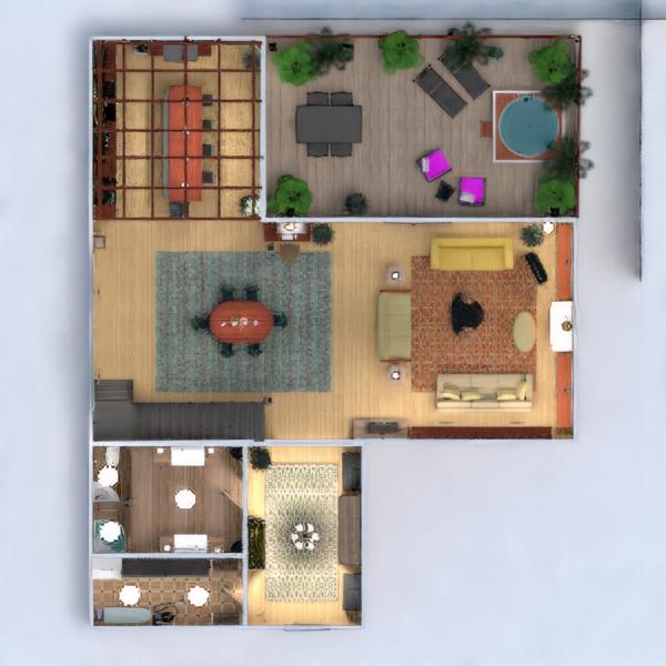floorplans apartamento terraza muebles decoración bricolaje cuarto de baño dormitorio salón cocina exterior iluminación paisaje hogar comedor arquitectura trastero estudio descansillo 3d