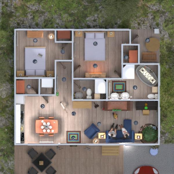 floorplans maison terrasse meubles décoration 3d