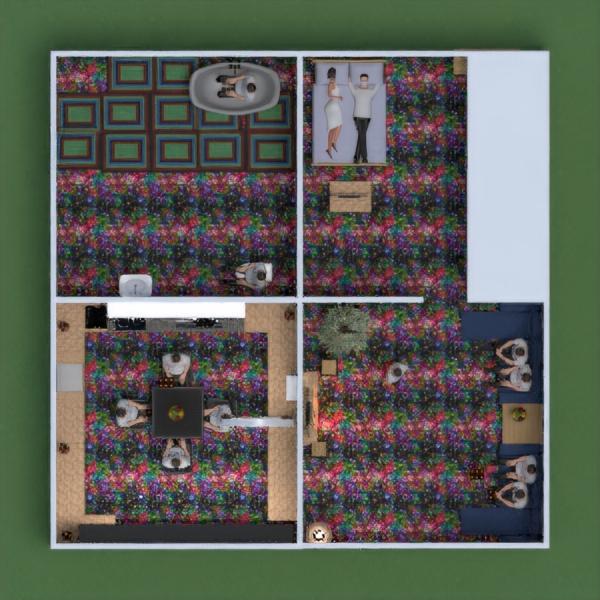 floorplans casa terraza muebles cuarto de baño dormitorio 3d