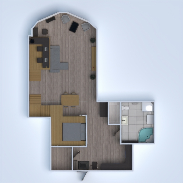 floorplans apartamento muebles decoración cuarto de baño dormitorio salón 3d