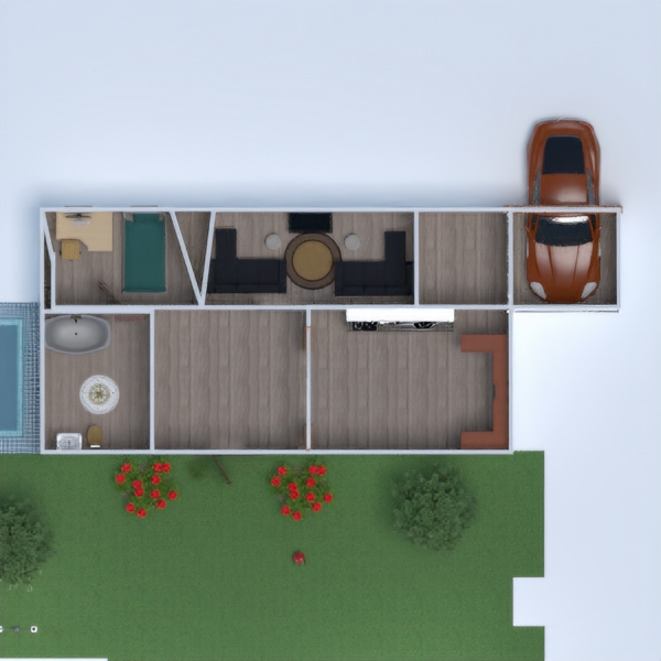 floorplans house bathroom bedroom living room garage 3d