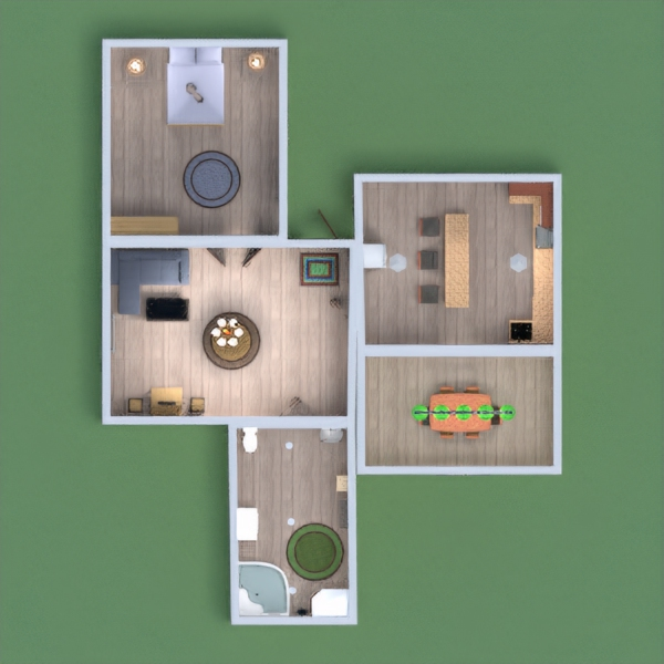 floorplans furniture bathroom bedroom living room kitchen 3d