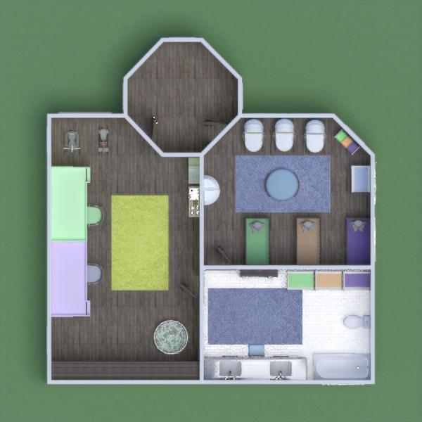 floorplans vonia miegamasis svetainė biuras namų apyvoka 3d