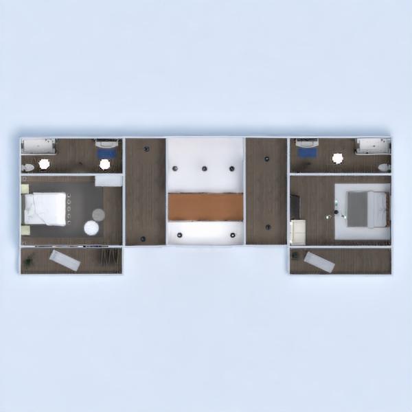 floorplans apartment house terrace furniture decor bathroom bedroom garage kitchen lighting entryway 3d