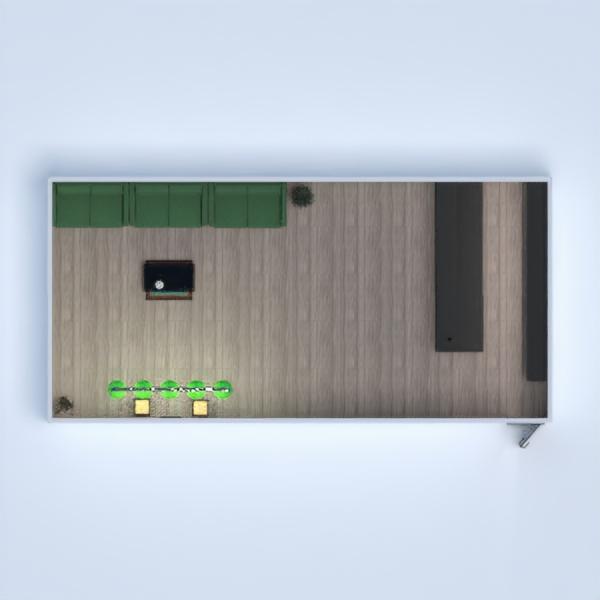 floorplans meble wystrój wnętrz pokój dzienny 3d