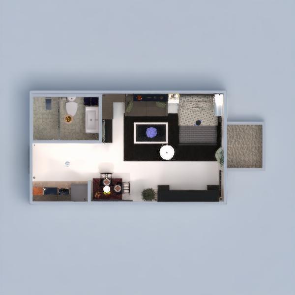 floorplans appartamento saggiorno monolocale 3d