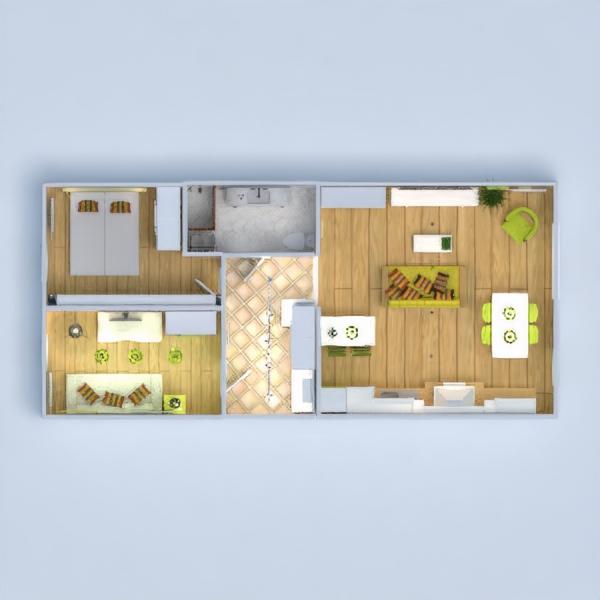 floorplans appartement salon cuisine 3d
