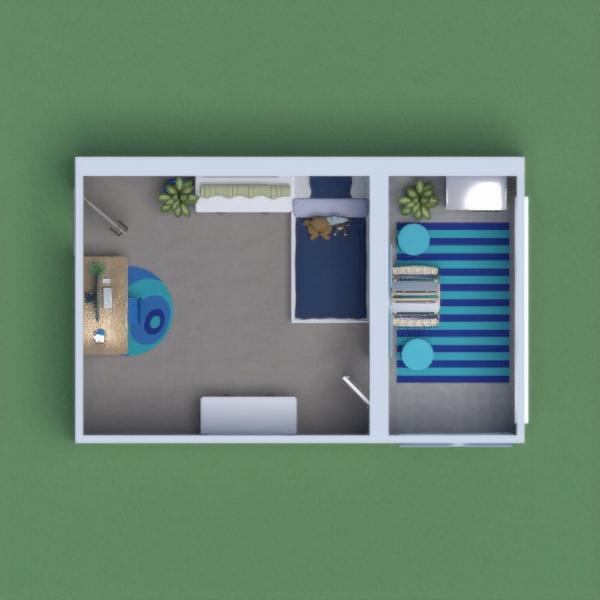 floorplans baldai dekoras miegamasis vaikų kambarys apšvietimas 3d