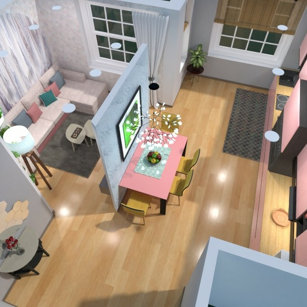 floorplans apartment living room kitchen dining room 3d