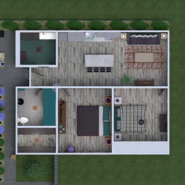 floorplans wohnung haus terrasse mobiliar dekor 3d