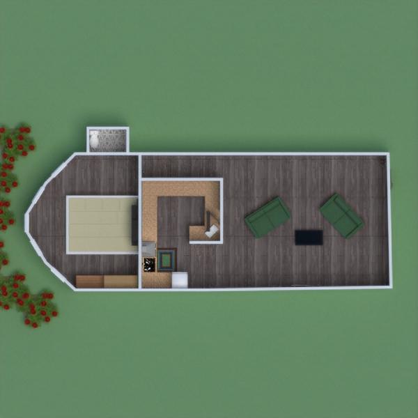 planos apartamento muebles dormitorio hogar estudio 3d