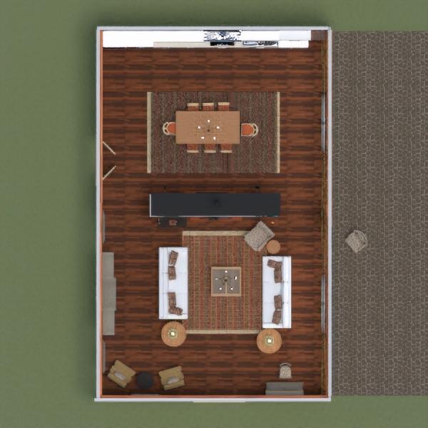 floorplans casa salón cocina comedor 3d