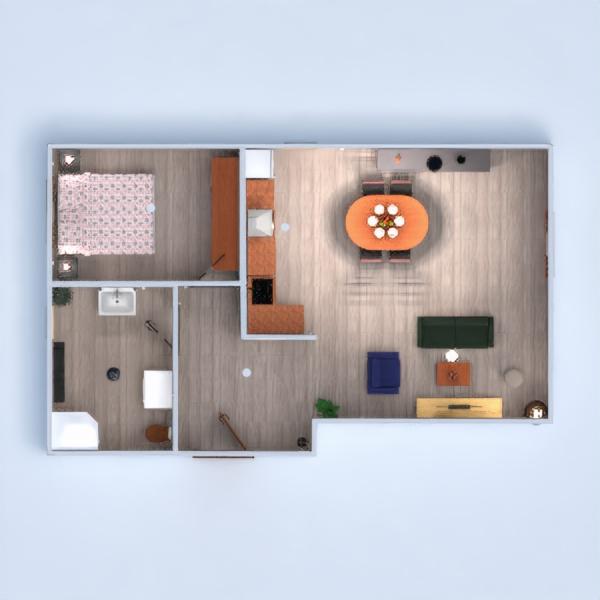 floorplans mieszkanie łazienka sypialnia pokój dzienny oświetlenie 3d