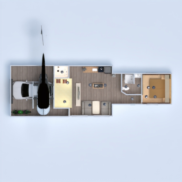 floorplans apartment garage 3d