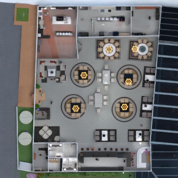 planos cuarto de baño salón cocina comedor 3d