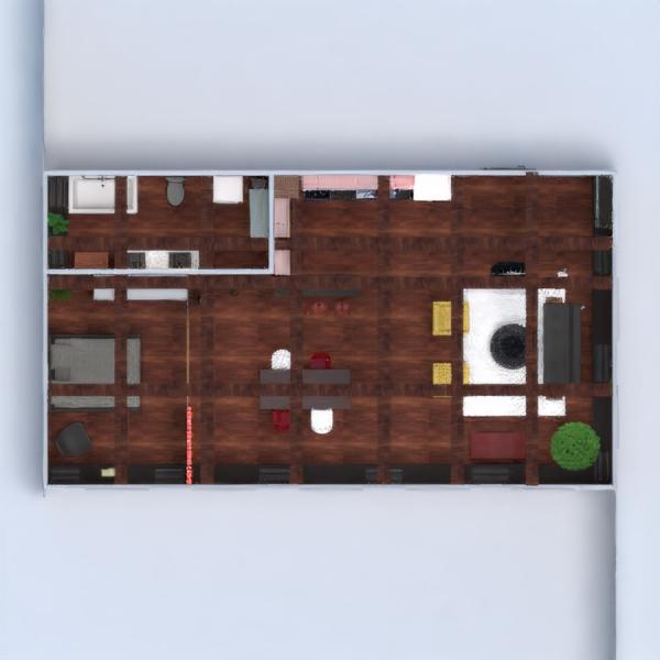 floorplans butas baldai dekoras vonia miegamasis svetainė virtuvė apšvietimas valgomasis sandėliukas 3d