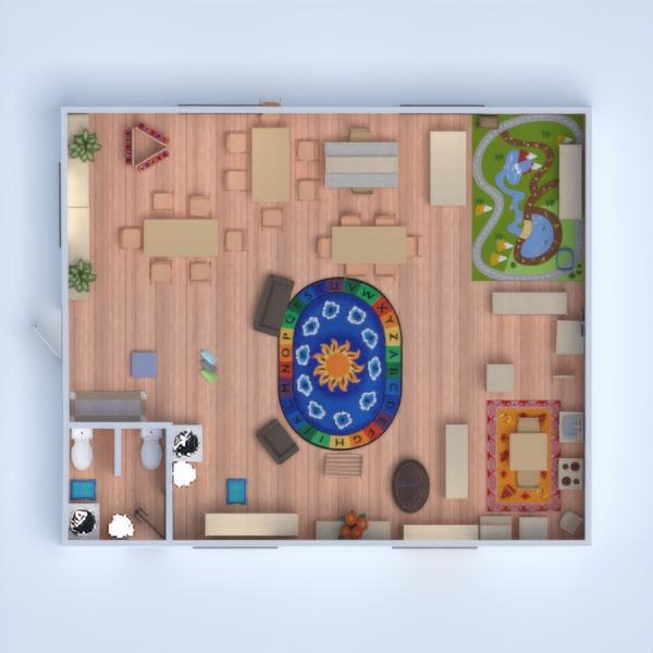 floorplans pokój diecięcy oświetlenie 3d