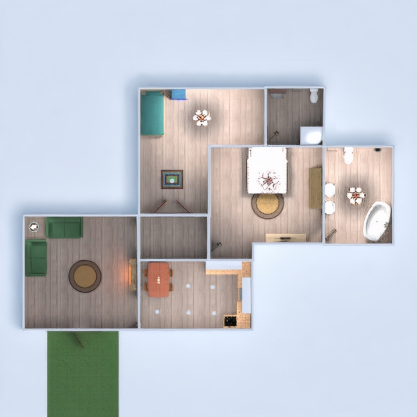 floorplans casa exterior iluminación 3d