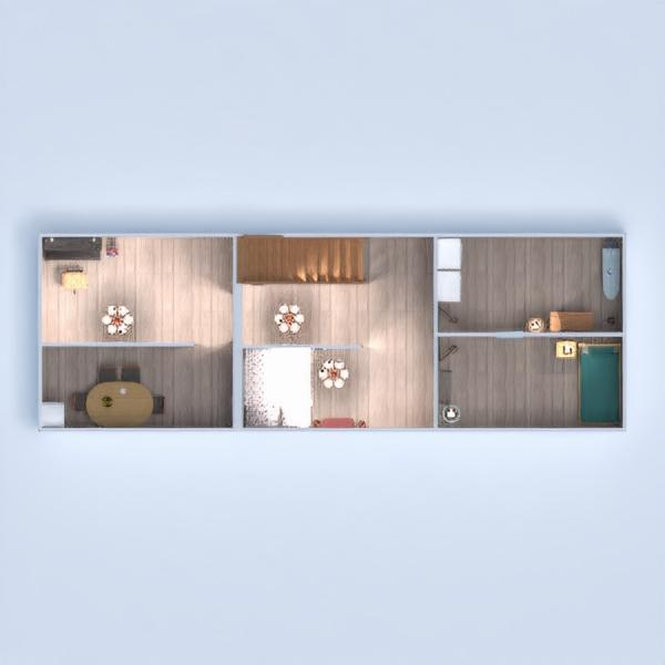 floorplans dom pokój dzienny garaż kuchnia jadalnia 3d