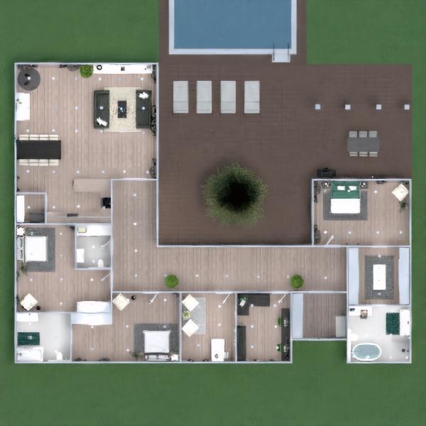 floorplans casa terraza decoración cuarto de baño dormitorio 3d