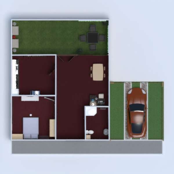 floorplans namas dekoras vonia miegamasis garažas 3d