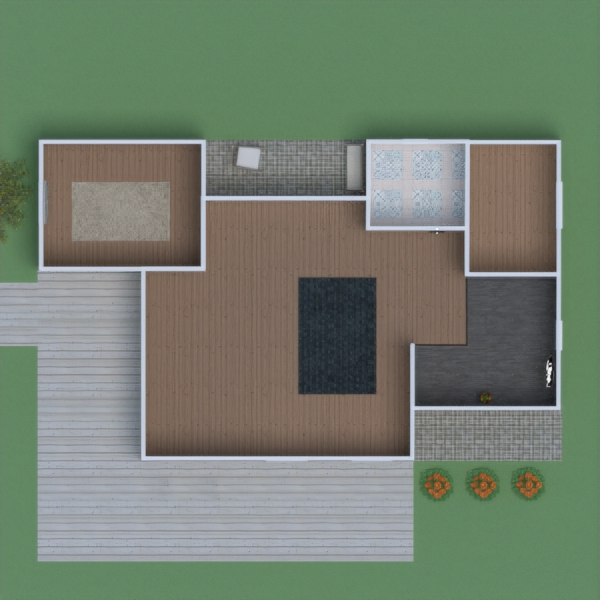 floorplans house terrace outdoor 3d