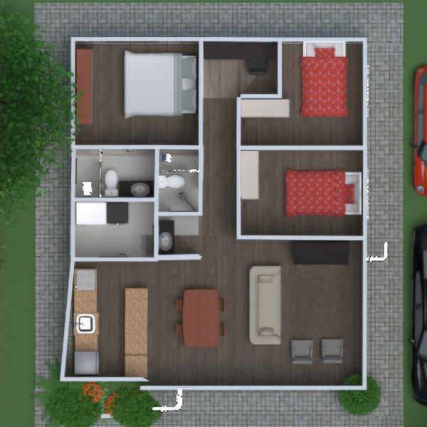 floorplans outdoor 3d