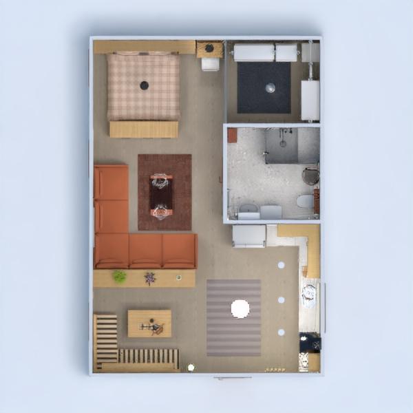 planos apartamento muebles estudio 3d
