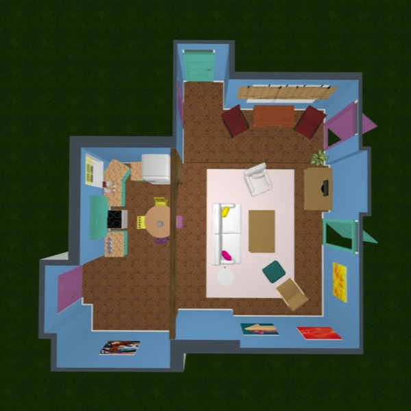 floorplans apartment household studio 3d