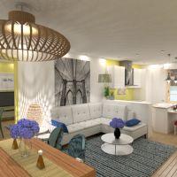 floorplans apartamento dormitorio salón cocina iluminación comedor 3d