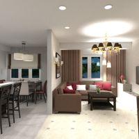 floorplans butas namas baldai dekoras svetainė virtuvė apšvietimas renovacija valgomasis sandėliukas studija 3d