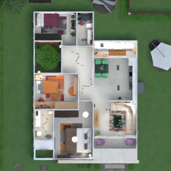 планировки дом декор ванная спальня архитектура 3d
