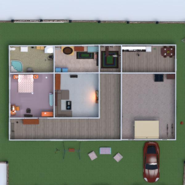 floorplans casa muebles decoración cuarto de baño dormitorio salón garaje cocina exterior habitación infantil 3d