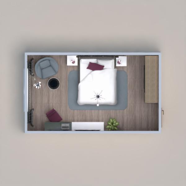 планировки дом спальня 3d