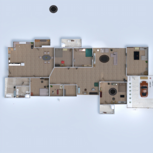планировки дом мебель декор спальня гостиная 3d