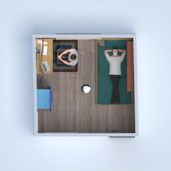 floorplans appartamento camera da letto monolocale 3d