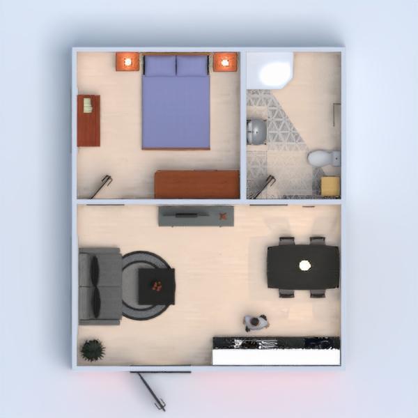 floorplans apartamento cuarto de baño dormitorio cocina comedor 3d