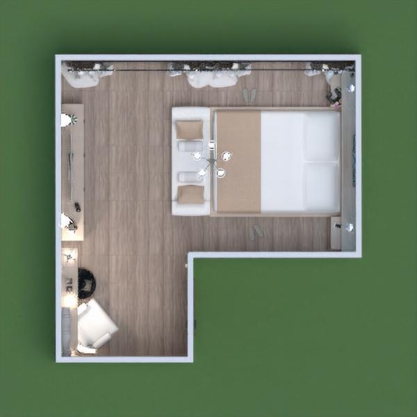 floorplans furniture bedroom lighting 3d