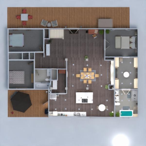 floorplans namas svetainė virtuvė renovacija valgomasis 3d