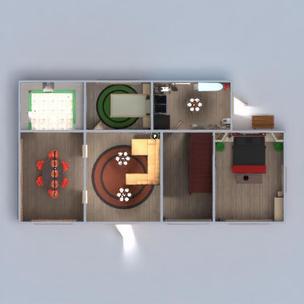 floorplans namas vonia miegamasis virtuvė 3d